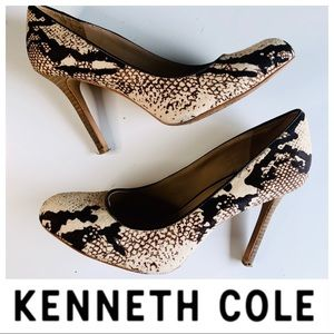 KENNETH COLE Leather Animal Print High Heel PUMPS